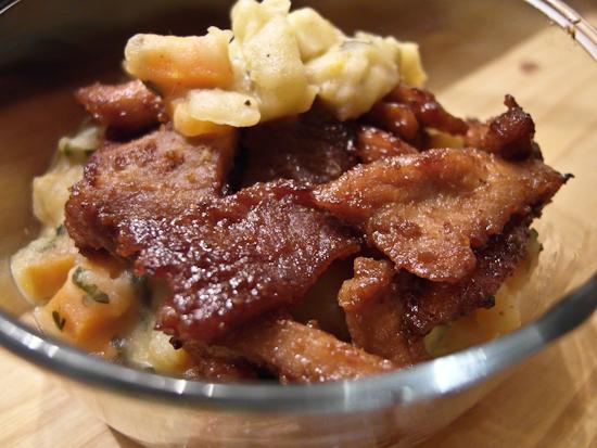 Emincés de porc au miel et à la sauce soja
