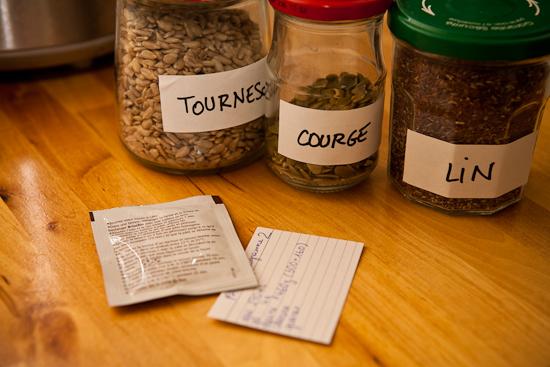 Des graines pour mettre dans votre pain fait-maison