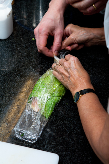 Préparation du suprême de pintade au foie gras