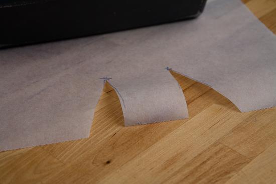 Découper le papier sulfurisé