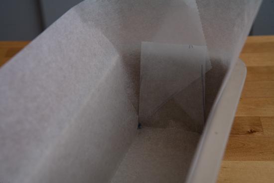 Poser le papier dans le moule