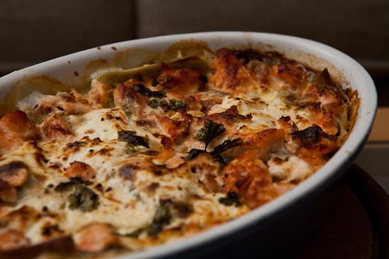 Lasagnes au saumon et à la ricotta
