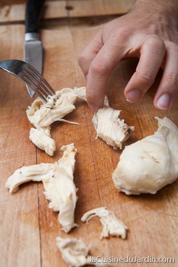 Préparation du poulet