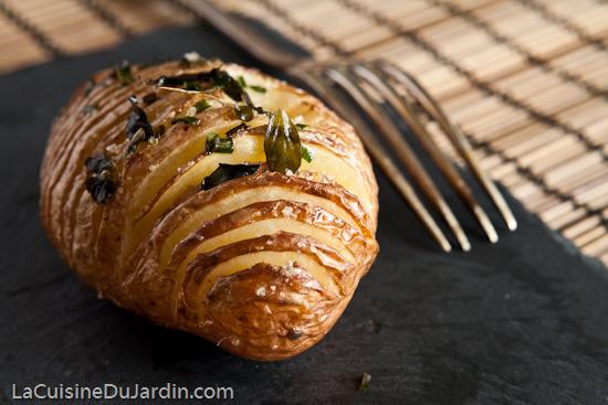 Pomme de terre au four à la Suédoise (Hasselbackpotatis)