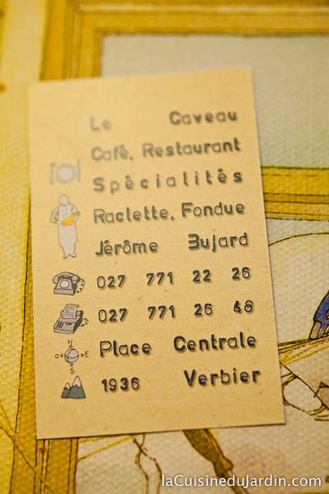 Restaurant Le Caveau, place Centrale, Verbier