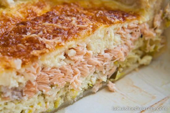 Tarte saumon poireau