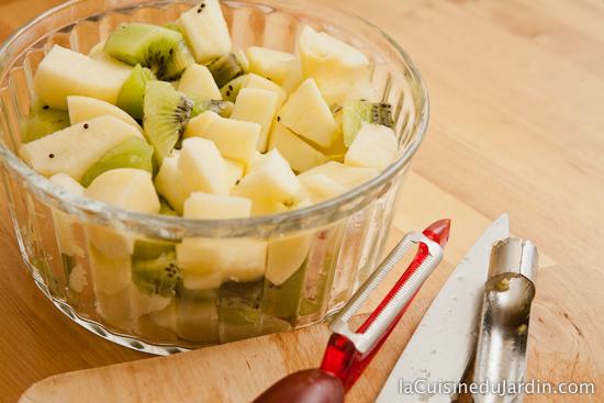 Découper les fruits