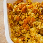 Riz saut au potiron et au curry