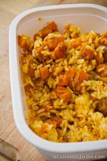 Riz sauté au potiron et au curry