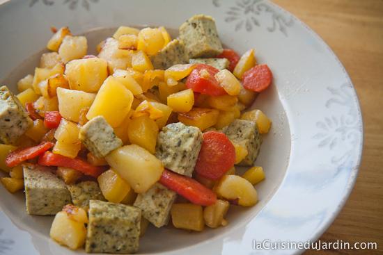 Poêlée de carottes, chou-navet (rutabaga) et pommes de terre