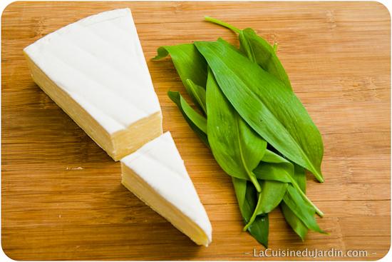 Préparation du Brie farci