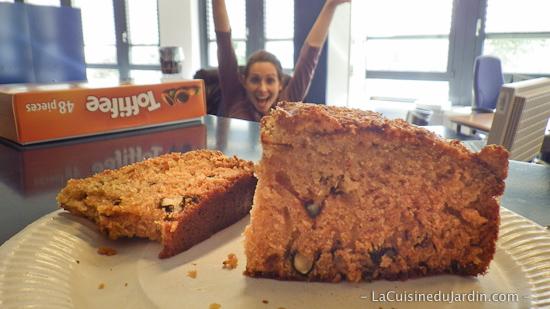 Gâteau à la courge et aux noix