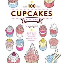 coloriage pour adulte : 100 cupcakes à colorier