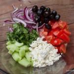 Salade à la grecque - ingrédients