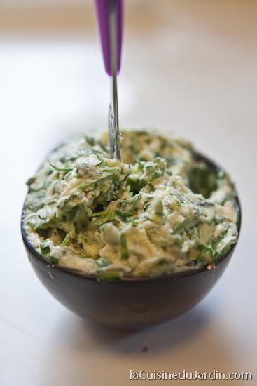 Beurre composé Roquette-Parmesan