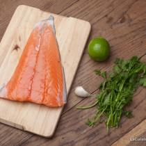 Ingrédients saumon au four à la coriandre